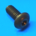 "8-32 x 1/2"" Brass button head screw"