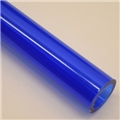 "1"" Thick walled Trans Blue PolyC 40"" long"
