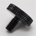 "8-32 x .3"" black thumb screw"
