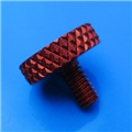 "8-32 x .3"" red thumb screw"