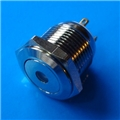 16mm Anti Vandal Short Momentary Blue Dot Switch