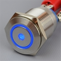 16mm Anti Vandal Momentary Blue Dot/Ring Switch