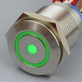 16mm Anti Vandal Momentary Green Dot/Ring Switch
