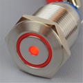 16mm Anti Vandal Momentary Red Dot/Ring Switch