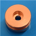 Copper machined button for covertec clip