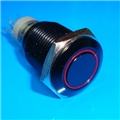 16mm Anti Vandal Momentary Blue Ring Switch