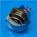 16mm Anti Vandal Momentary Nickel Plated Switch