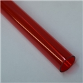 "1"" Thin walled Trans Red PolyC 40"" long"