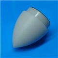 "Bullet Shaped White shouldered 7/8"" thin walled blade tip with reflective disc"