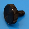 "10-32 x 3/8"" Black Acetal thumb screw"