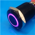 12mm Anti Vandal Momentary Purple Ring Switch