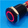 12mm Anti Vandal Momentary Red Ring Switch