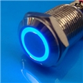12mm Anti Vandal Momentary Blue Ring Switch