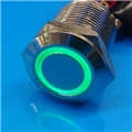 12mm Anti Vandal Momentary Green Ring Switch