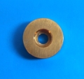 Brass machined button for covertec clip