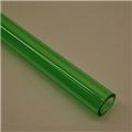 "1"" Thick walled Trans Green PolyC 40"" long"