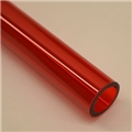 "1"" Thick walled Trans Red PolyC 40"" long"