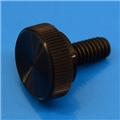 "8-32 x 3/8"" Black Acetal thumb screw"
