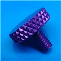 "8-32 x .3"" Purple thumb screw"