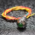 Green 5mm LED and momentary switch combo