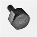"8-32 x 1/2"" Hex thumb screw- Black"