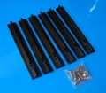 6 Piece notched rubber grip set 3.6""