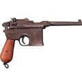 1896 Mauser Broomhandle Replica Pistol - Wood Grips