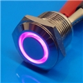 16mm Anti Vandal Short Momentary Purple Ring Switch