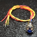 Blue 5mm LED and momentary switch combo
