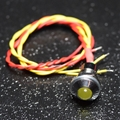Yellow 5mm LED and momentary switch combo