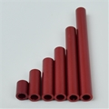 "1"" Anodized Red Aluminum 3/16"" OD spacer"