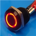 16mm Anti Vandal Short Momentary Red Ring Switch