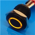 16mm Anti Vandal Short Momentary Yellow Ring Switch