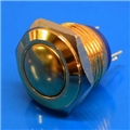 16mm Anti Vandal Momentary Gold Plated Switch