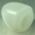"1"" Thick walled Trans White parabolic Neopixel blade tip"
