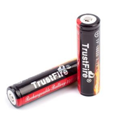 TrustFire Protected 3.7V 2400mAh 18650 Li-Ion Battery (2-pack)