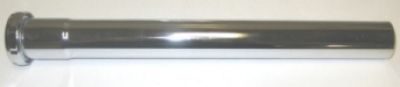 "1-1/4"" x 12"" Chrome sink tube"